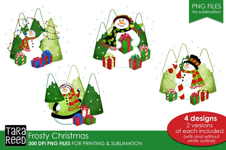 Frosty Christmas - PNG files for Sublimation