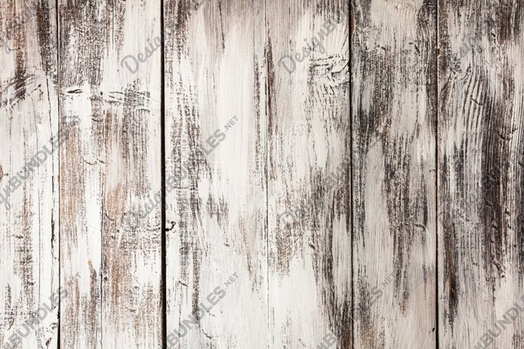 Empty old shabby white painted wood