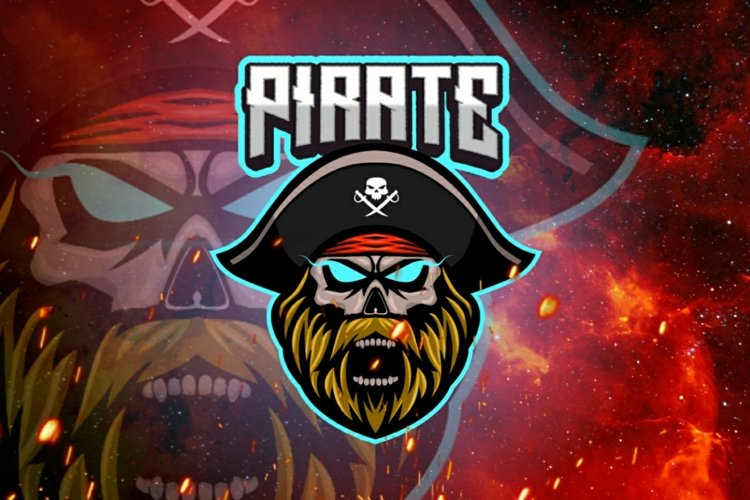 Pirate mascot gaming logo example image 1