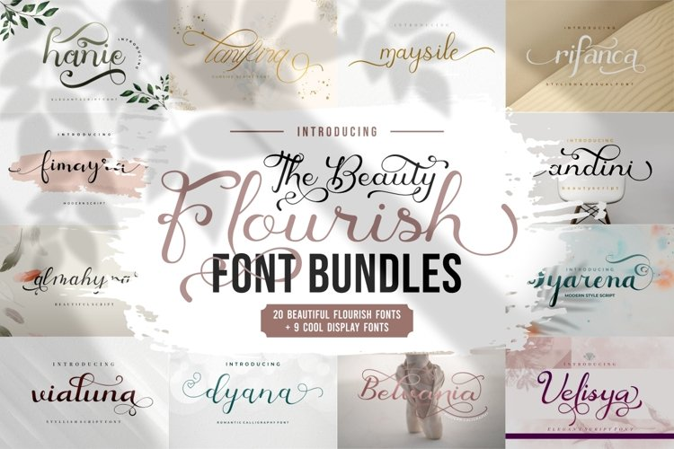 The Beauty Flourish Font Bundles - Only $12 example image 1