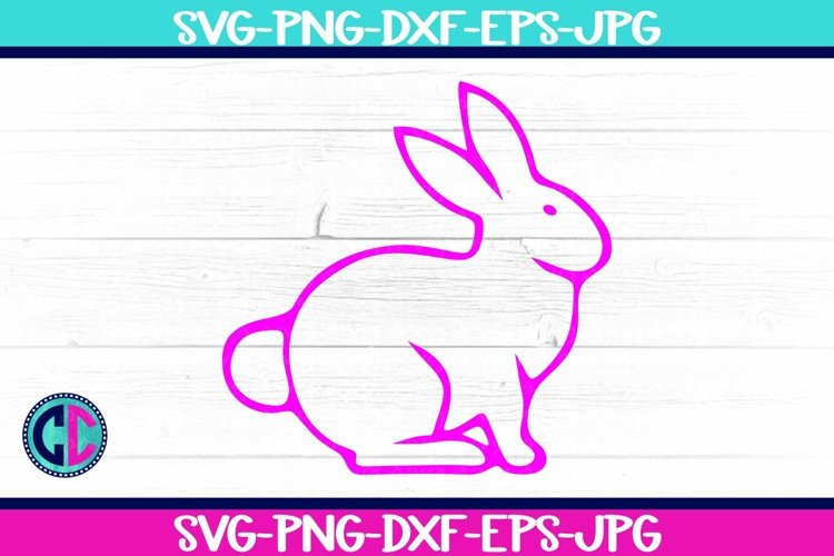 Rabbit Outline SVG example image 1