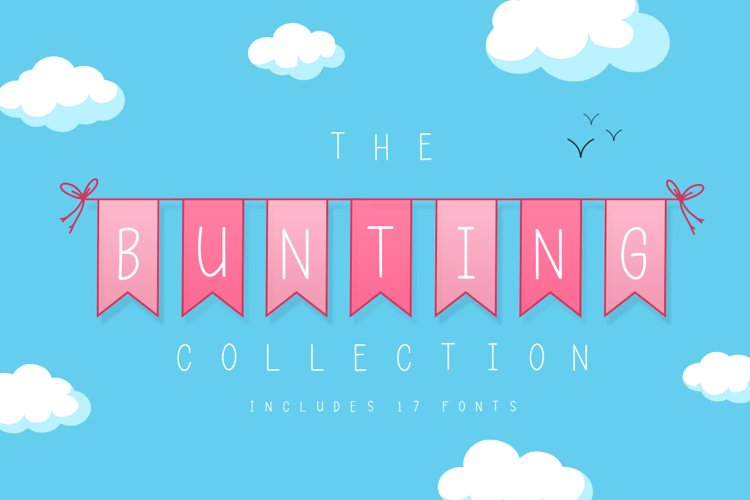 The Bunting Font Collection example image 1