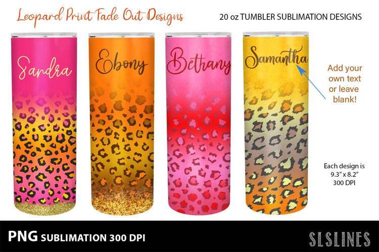 Skinny Tumbler Sublimation - Leopard Print Fade Out Set