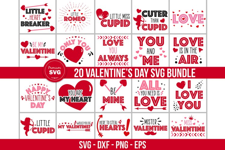 Valentines day svg bundle, St. Valentines cut files