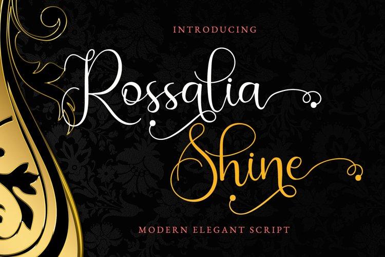 Rossalia Shine - Tiny Elegant Calligraphy example image 1