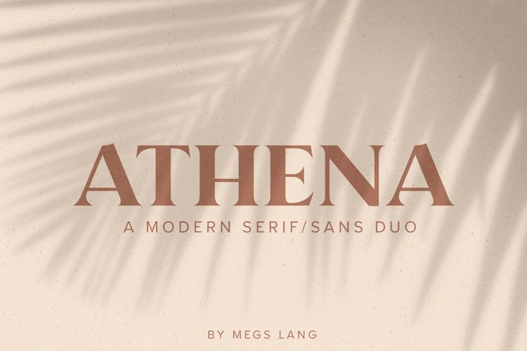 Athena // A Modern Serif & Sans Serif Font Duo example image 1