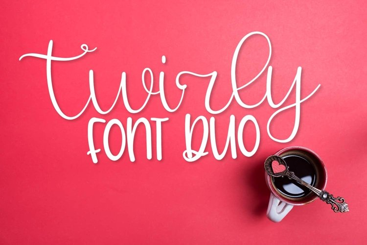 Web Font Twirly Font Duo - A Fun Hand Lettered Script & Prin example image 1