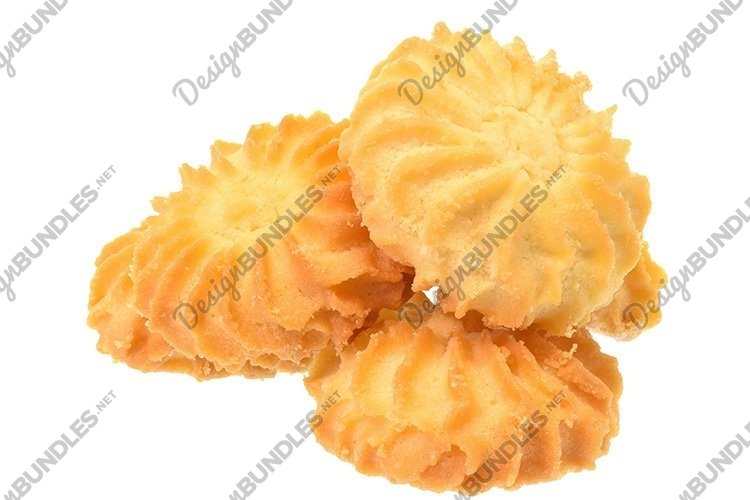 Stock Photo - Homemade shortbread cookies isolated example image 1