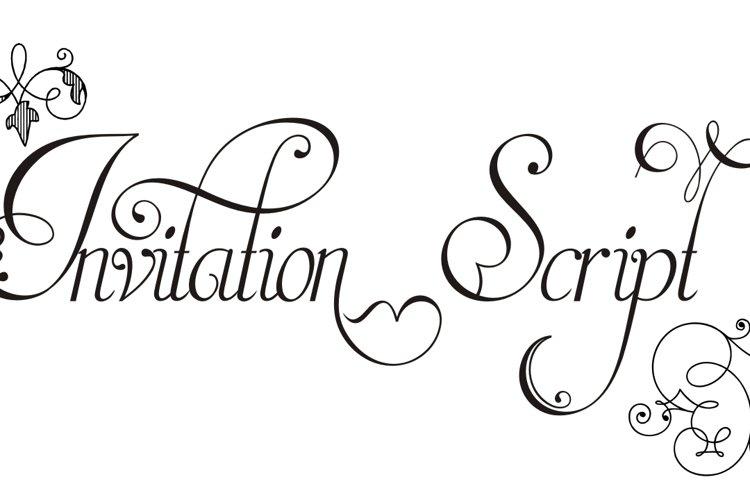 Invitation Script Pack 3fonts
