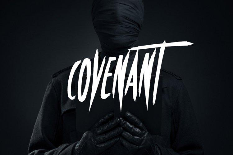 Covenant - Brush Font example image 1