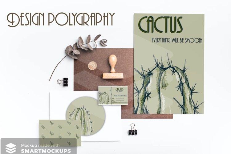 Lineart cactus set