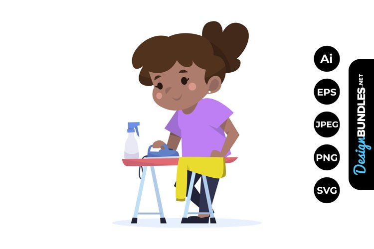 Girl Household Chores Clipart example image 1