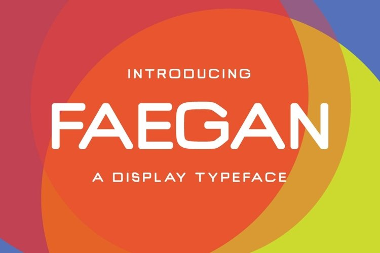 Web Font Faegan Typeface example image 1
