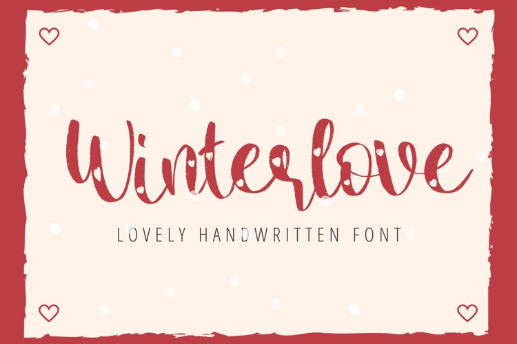 Winter Love - Lovely Handwritten Font For Your Crafting example image 1