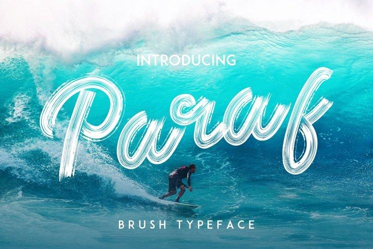 Paraf Brush Font example image 1