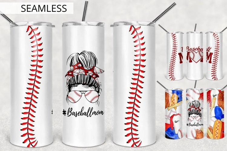 Baseball Mom Tumbler Sublimation Design, Tumbler Design PNG