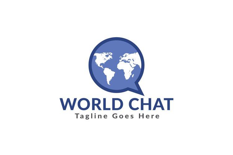 World Chat Logo Design. example image 1