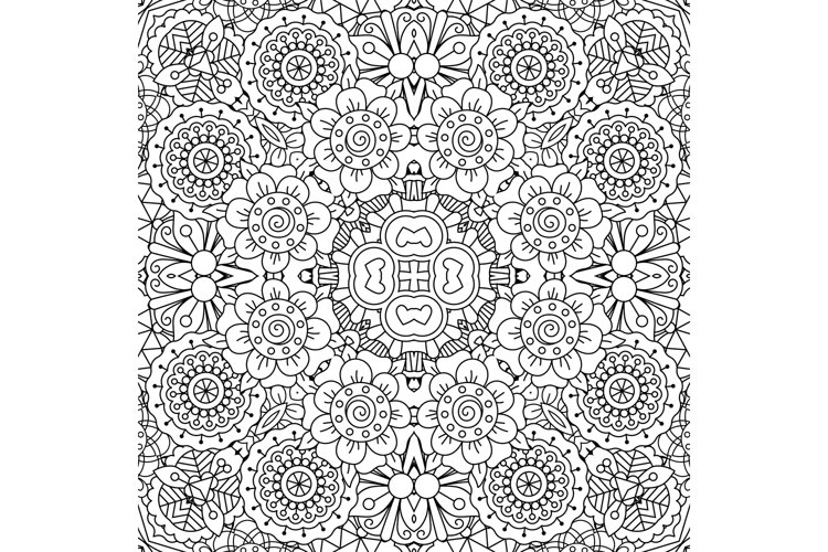 Full frame kaleidoscope background of patterns example image 1