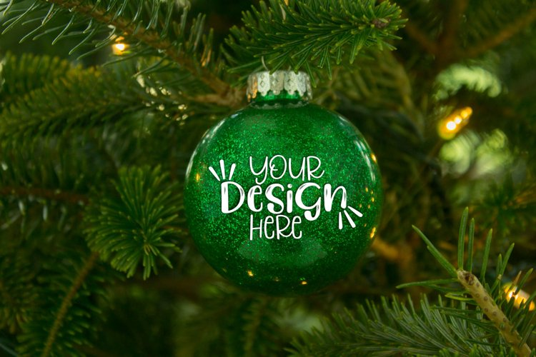 Green Glitter Ornament Mockup for Crafters example image 1