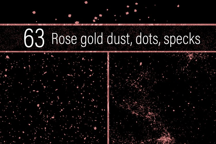 Rose Gold Dust, Dots and Specks example image 1