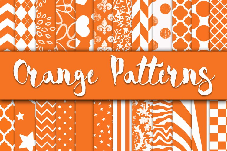 Orange Patterns Digital Paper example image 1