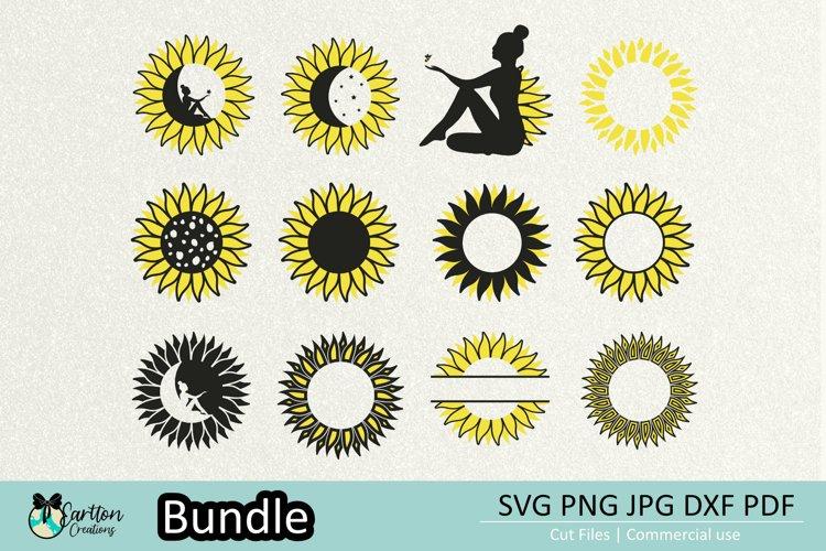 Sunflowers Bundle SVG PNG Cut files for Cricut, Silhouette
