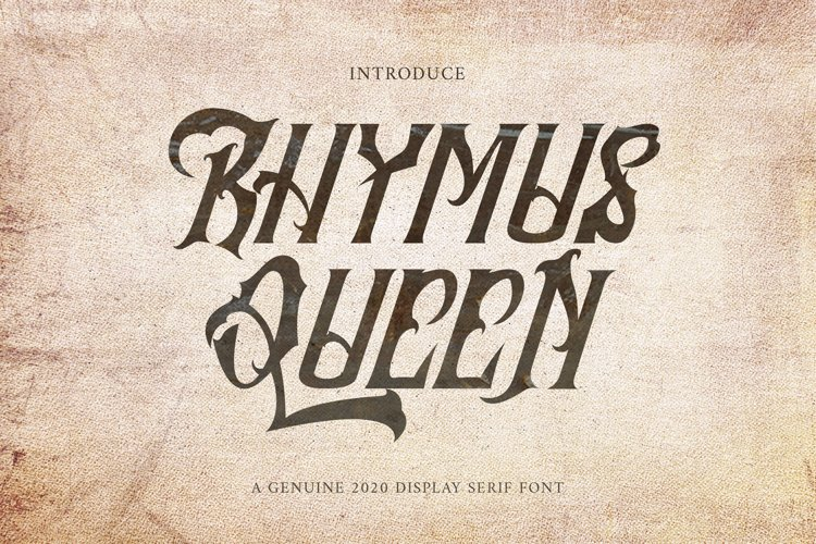 Rhymus Queen - Qothic Blackletter Font example image 1