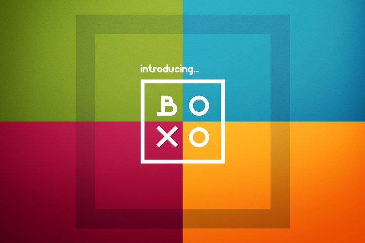 Boxo Font example