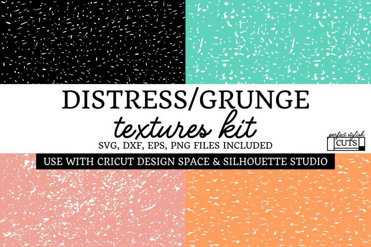 Grunge Textures Bundle, Distressed SVG Textures Kit example image 1
