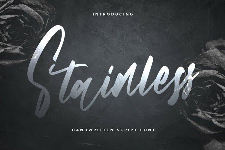Web Font Stainless - Handwritten Script Font example image 1
