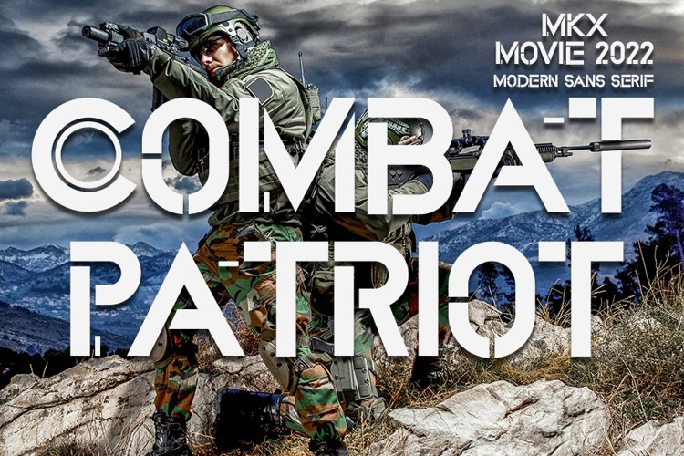 Combat Patriot - Military Sans Serif Font example image 1