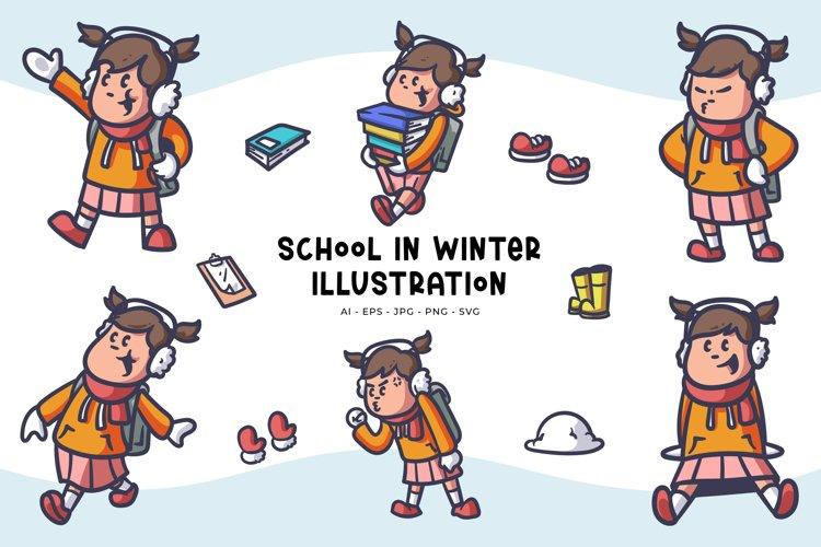 School Girl Illustrations
