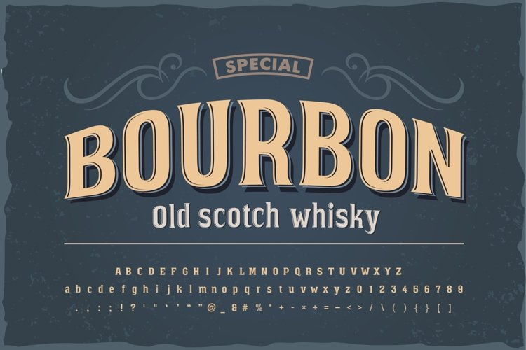 Bourbon vintage font example image 1