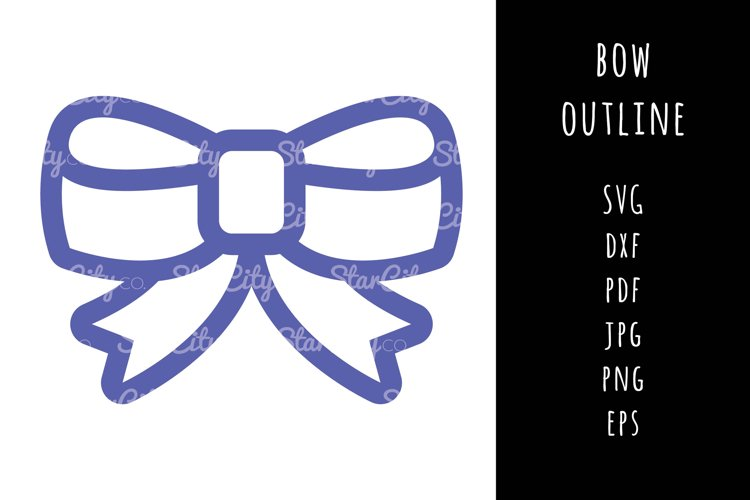 Bow SVG Cutting file, Bow cut file, cut file, Bow outline example image 1