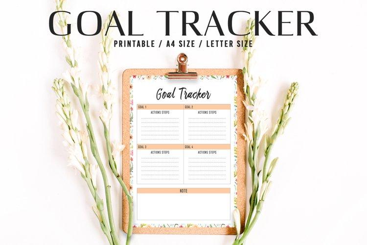 Goal Tracker Printable V1 example image 1