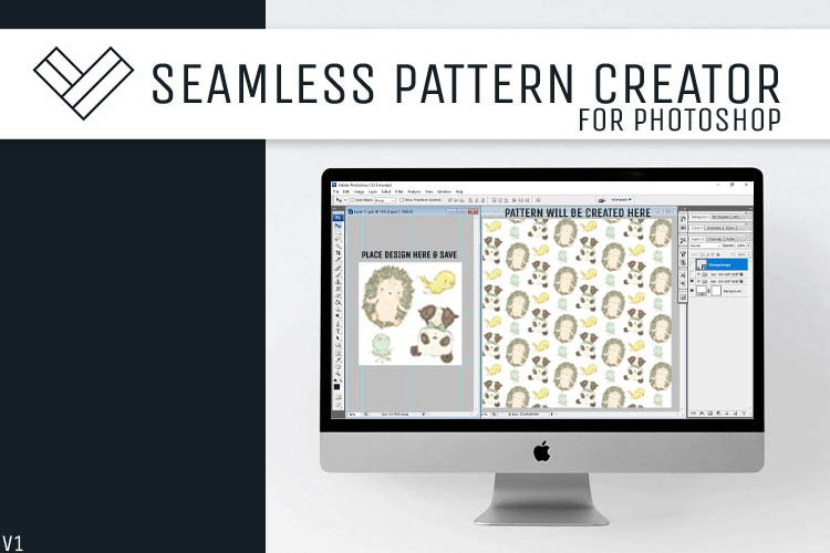 Seamless Pattern Creator Template | PSD File | V1