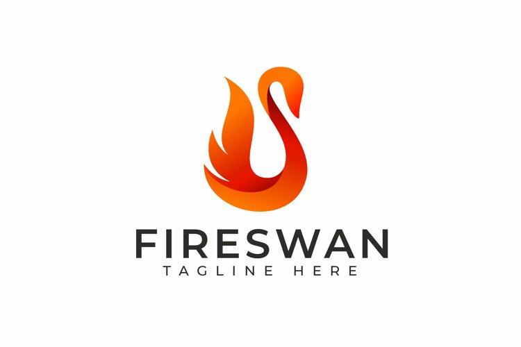 Fire Swan Logo Design example image 1