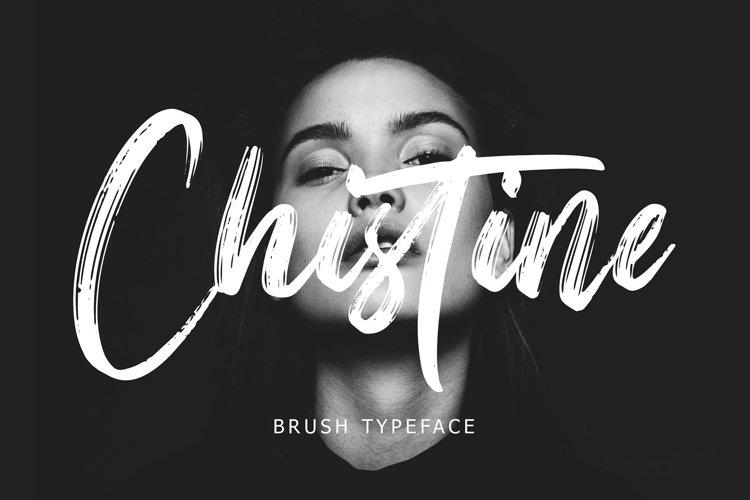 Christine Brush Typeface example image 1