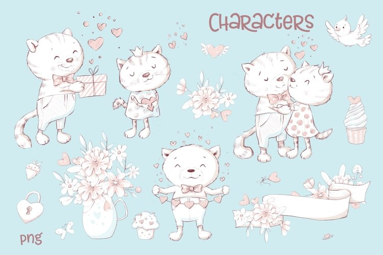 Valentines Day Clipart Cute Cat