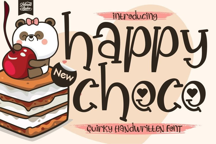 Happy Choco - Quirky Handwritten Font example image 1