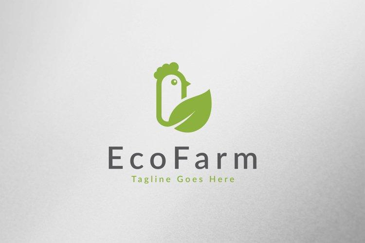 Eco Chicken Farm Logo Template