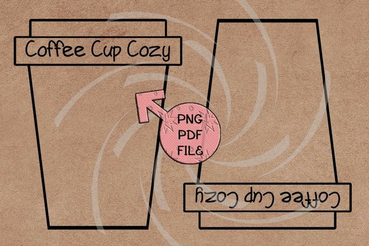 Cup cozy display card template Crochet tags