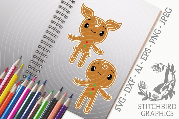 Gingerbread Kids Bundle SVG, Silhouette Studio, Cricut, Eps