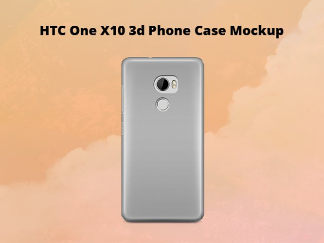 HTC One X10 3d Case Mockup Back View example image 1