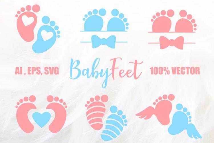 Baby Foot Prints, Baby Feet SVG, AI, EPS