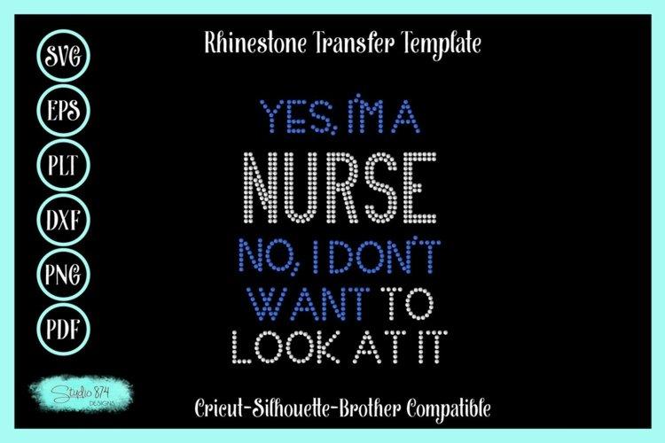 Nurse - Nursing Rhinestone SVG Template