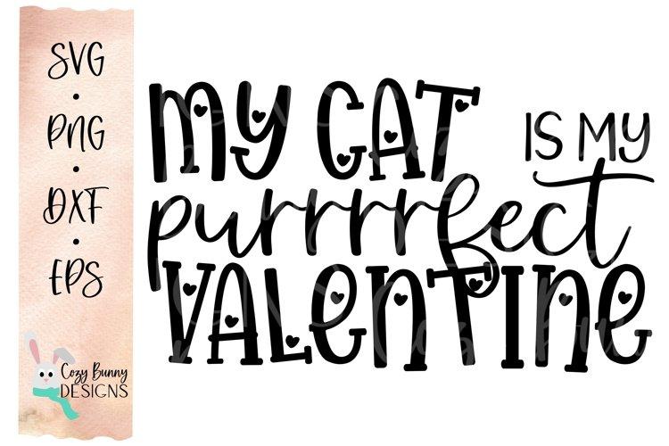 Download Valentine S Day Svg My Cat Is My Purrrrfect Valentine 1143234 Cut Files Design Bundles