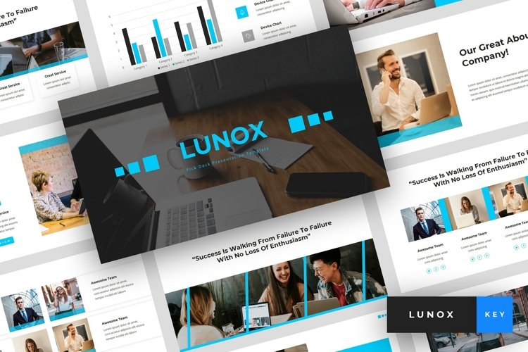 Lunox - Pitch Deck Keynote Template example image 1