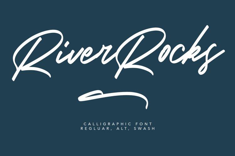 River Rocks Brush Font example image 1