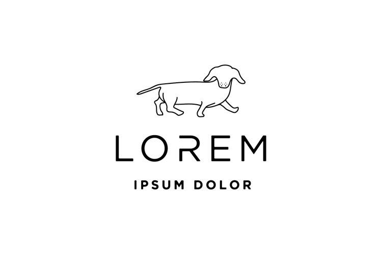 dachshund dog logo vector illustration example image 1